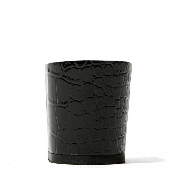 Calinan crocodile-embossed patent Black