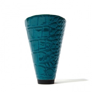 Centenary crocodile-embossed patent teal