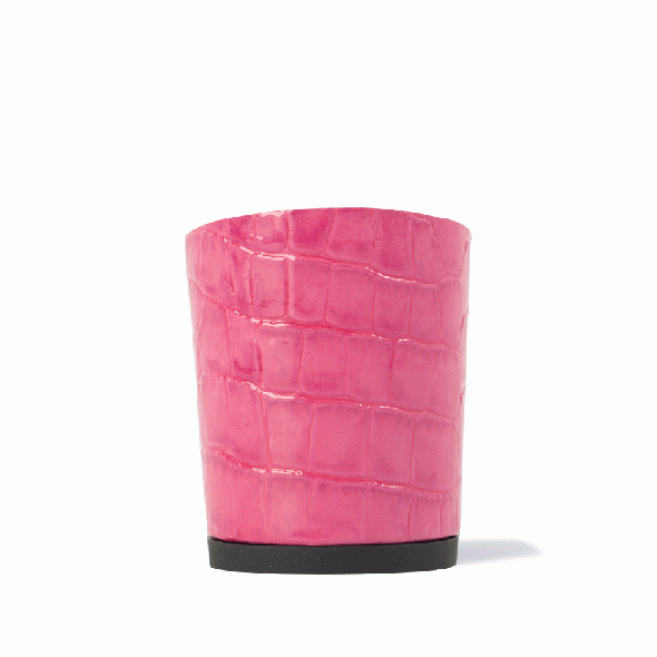 Calinan Crocodile Embossed Pink