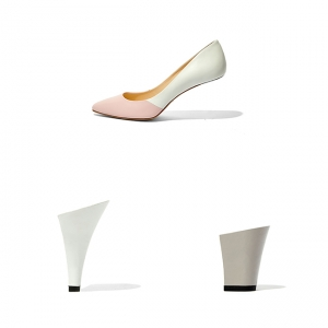 ROMMY Pink×White +2HEELS