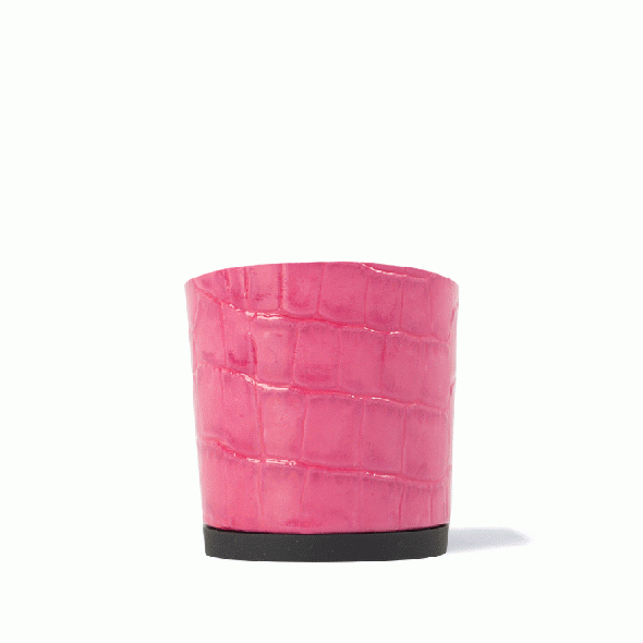 【4.5cmヒール】Noor(ヌール) Crocodile Embossed Pink