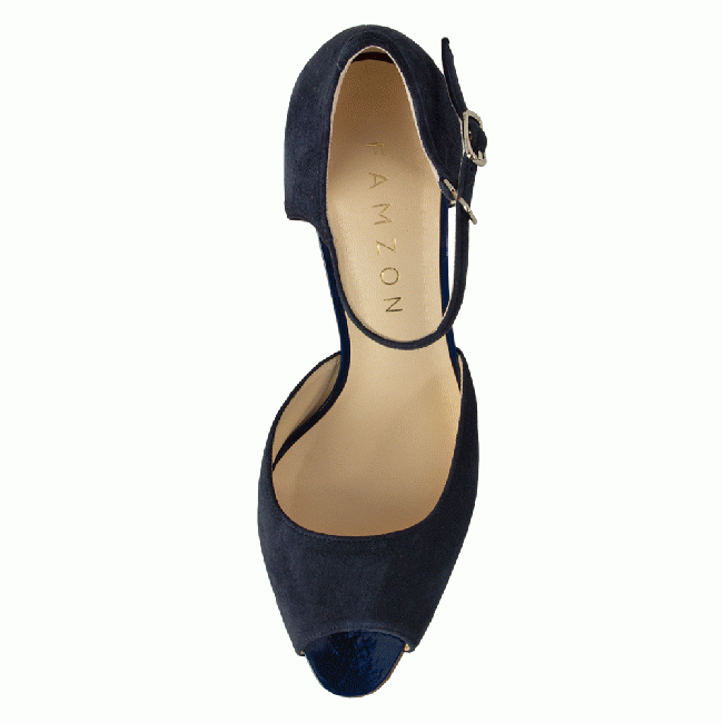 LINDA Midnight blue Suede