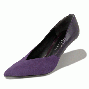 GRACE Suede×Patent Purple